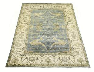 Hand knotted wool Indo-Oushak carpet, 13 x 10