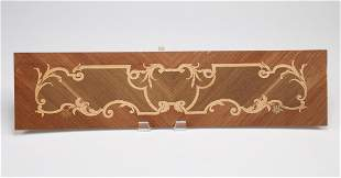 """Italian marquetry inlaid architectural panel, 36""""w"""