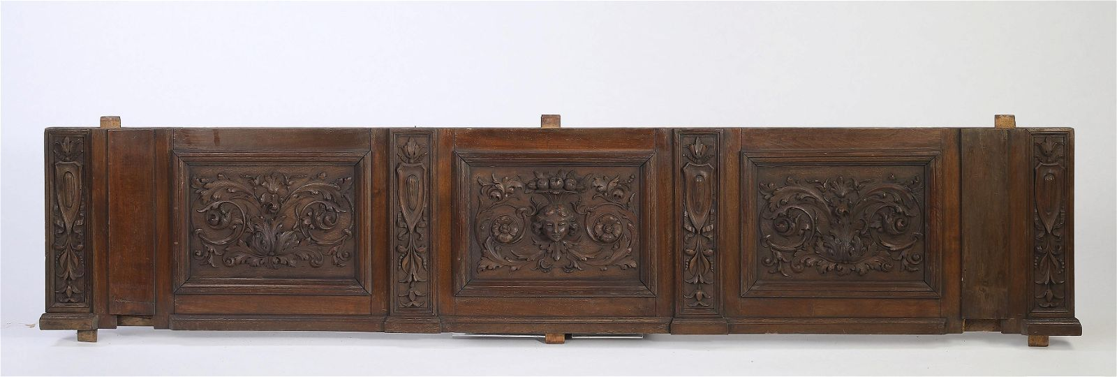 19th c. Italian carved architectural panel