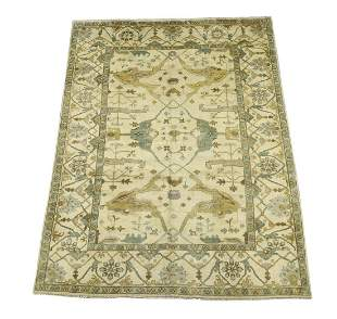 Hand knotted wool Indo-Oushak, 12 x 9