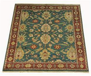 Hand knotted Sino Tabriz rug w/palmettes, 10 x 8