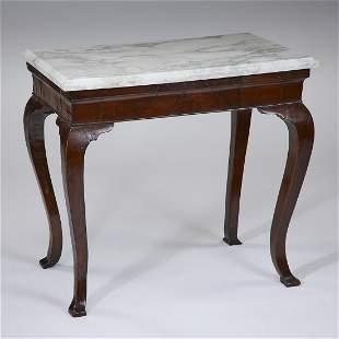 19th century mahogany and marble table