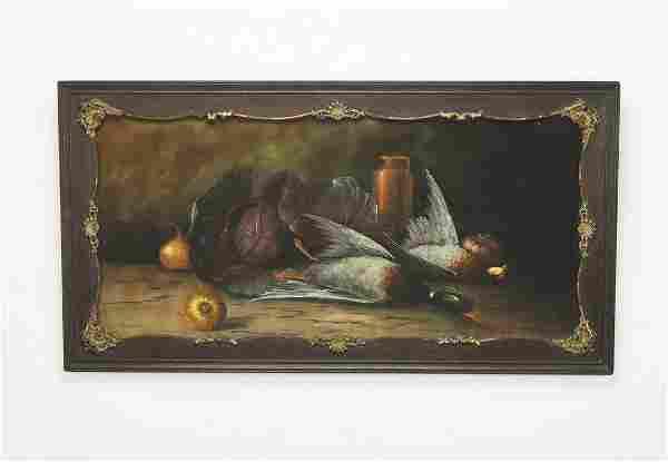 Signed William H. Chandler pastel still life, 19th c.