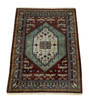 Hand knotted wool Indo-Persian carpet, 8 x 5