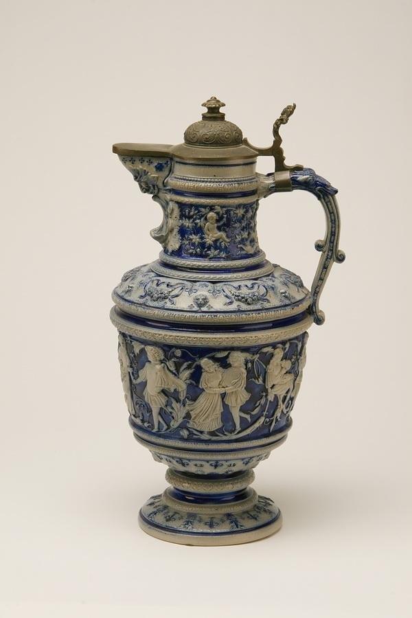 6: 19th c. master stein with pewter top