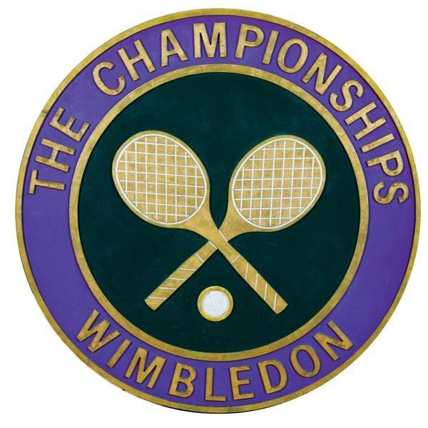 "10: Original Wimbledon 48"" bronze plaque"