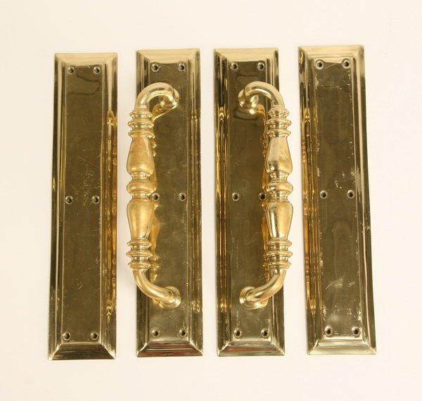 11A: English bronze door handles from Wimbledon