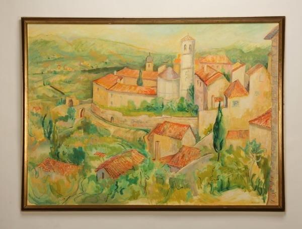 12: Oversized oil on canvas, signed McCallum