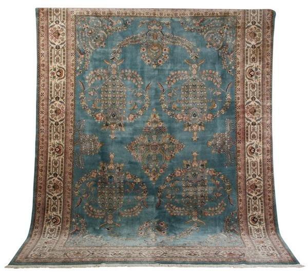 20: Semi-antique Persian Sarouk rug