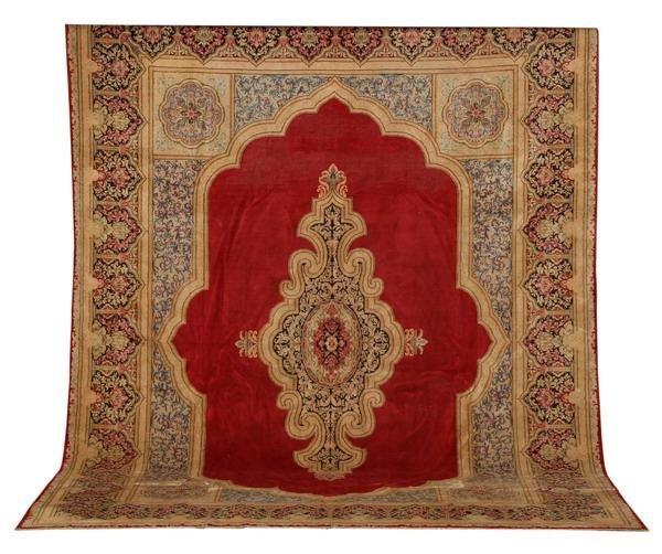 21: Semi-antique Persian Kerman rug