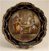 106: Old Paris porcelain charger