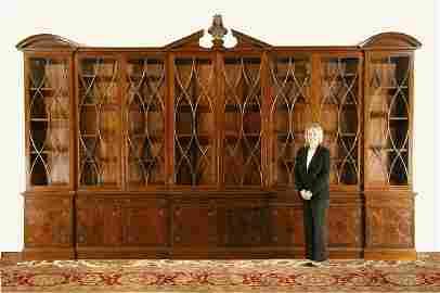 140: Monumental 19th c. English mahogany bookcase