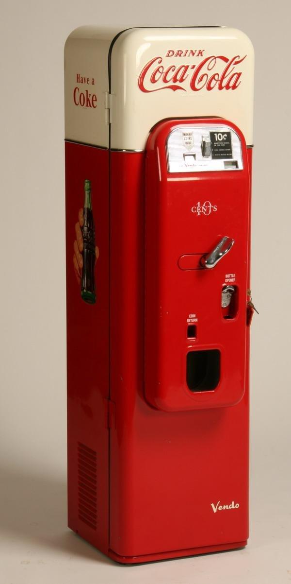 1: Vintage Coca Cola coin op drink dispenser