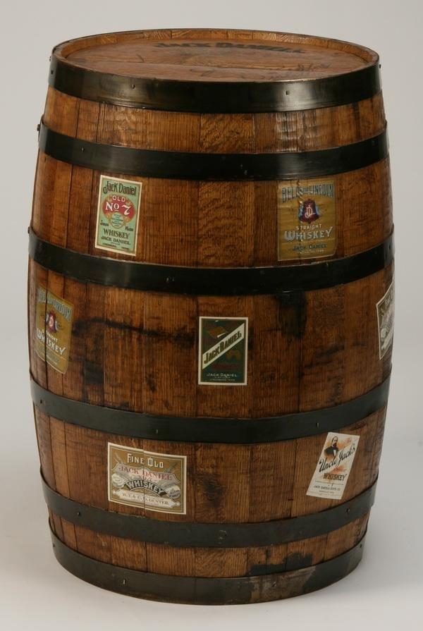 2: Jack Daniel's oak whiskey barrel