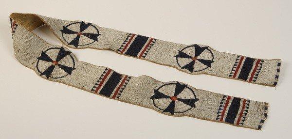 22: 19th c. Native American wampum belt