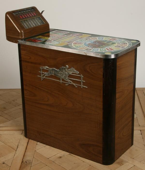 47: Vintage horse racing slot machine by Buckley