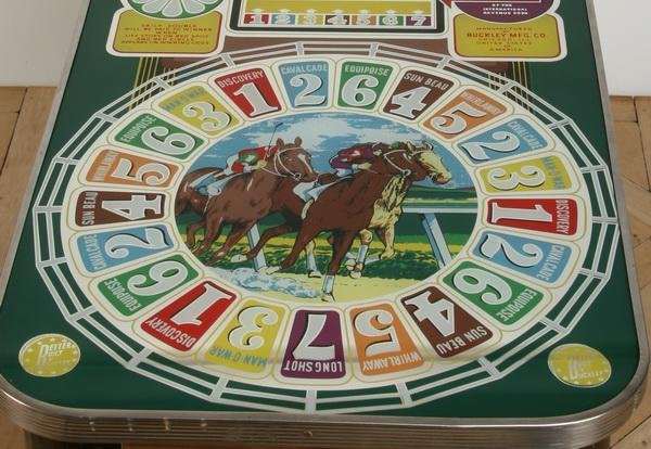47: Vintage horse racing slot machine by Buckley - 5