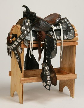 Western Parade Saddle Attributed To Flowers