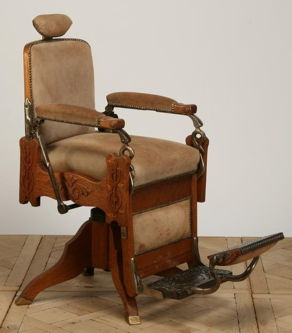 145: Late 19th c. Koken barber chair