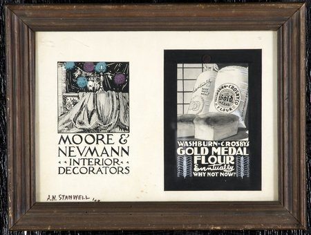 147: Original pen & ink advertisements, signed
