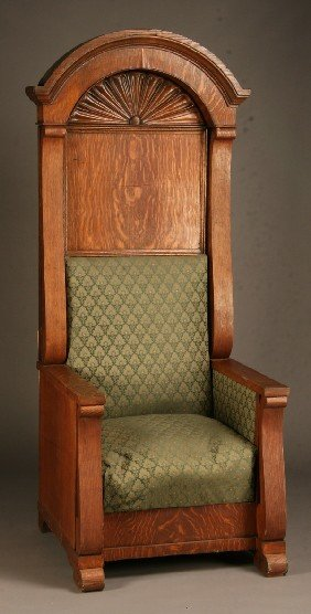 American Carved Oak Arm Chair