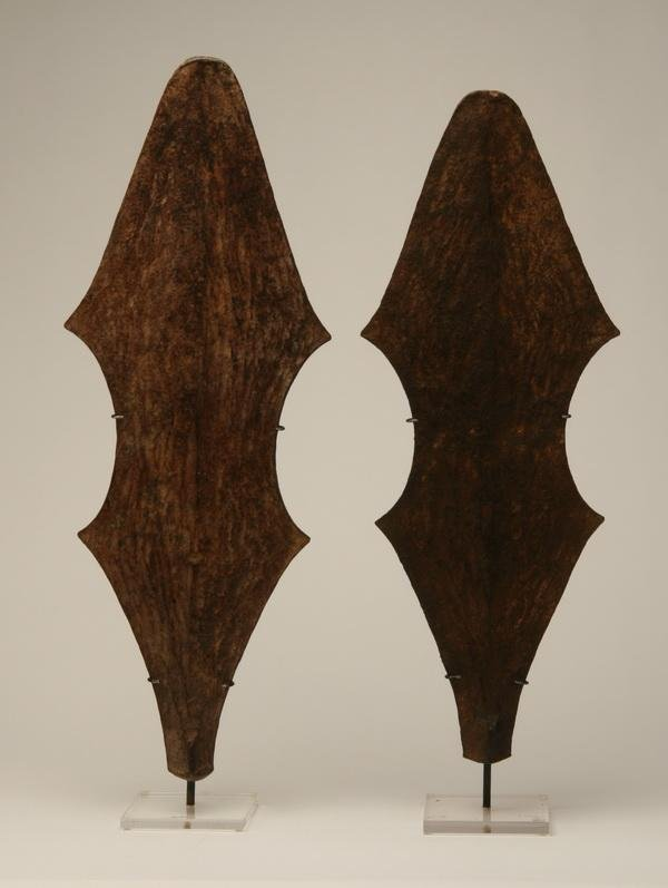 257: Pair of African forged iron currency units