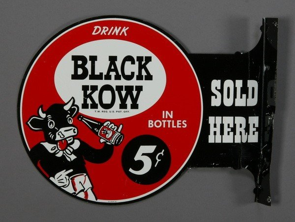351: Drink Black Cow advertising sign
