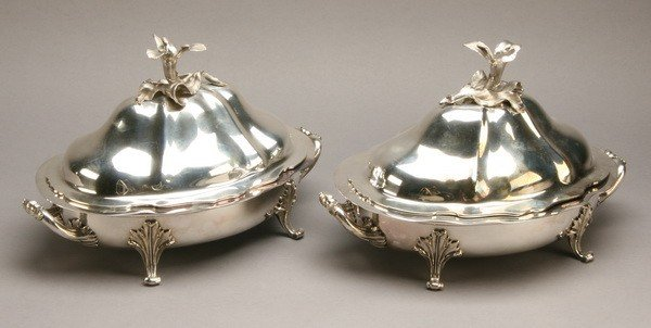 10: Pair of 19th c. English silverplate dishes