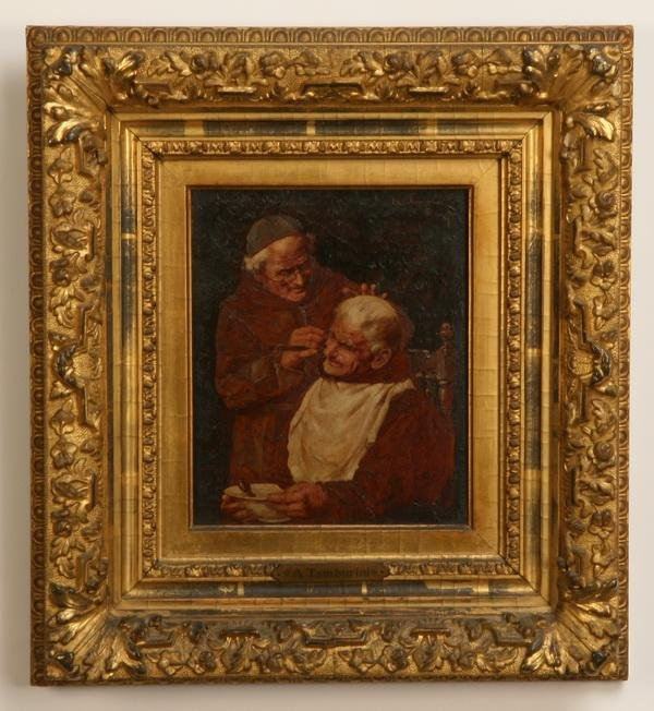 11: 19th c. oil on board, signed Tamburini
