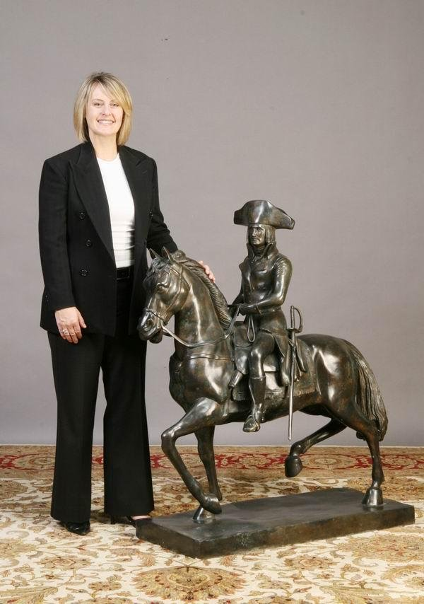16: Oversized bronze sculpture of Napoleon
