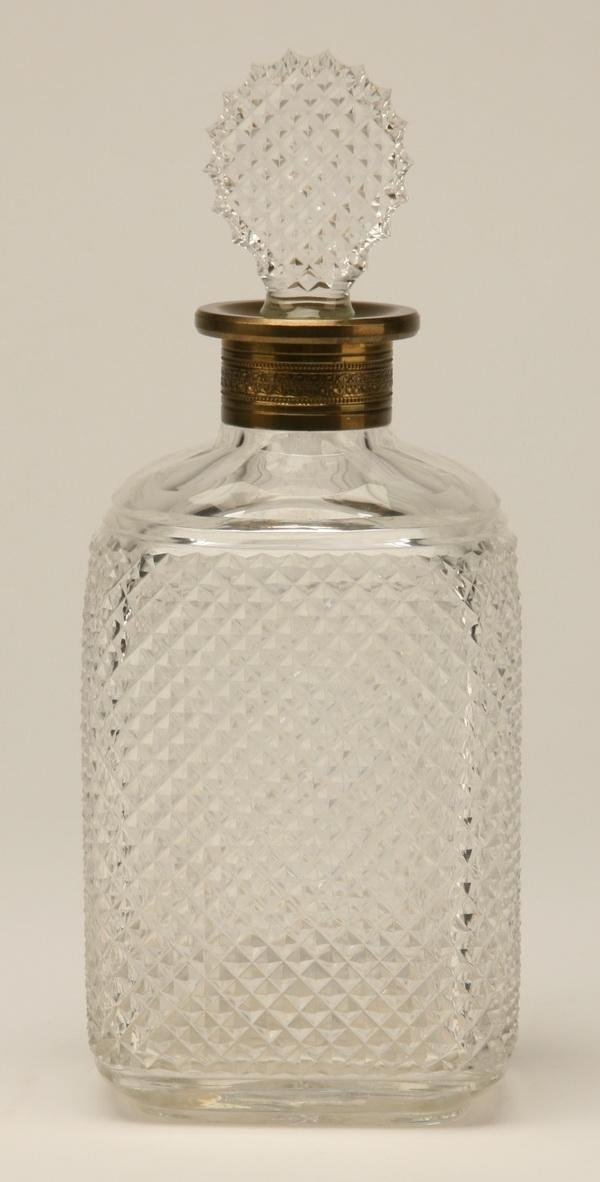 23: 19th c. Irish cut crystal decanter