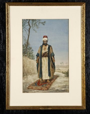 24: 19th c. Italian watercolor, signed Buzzi