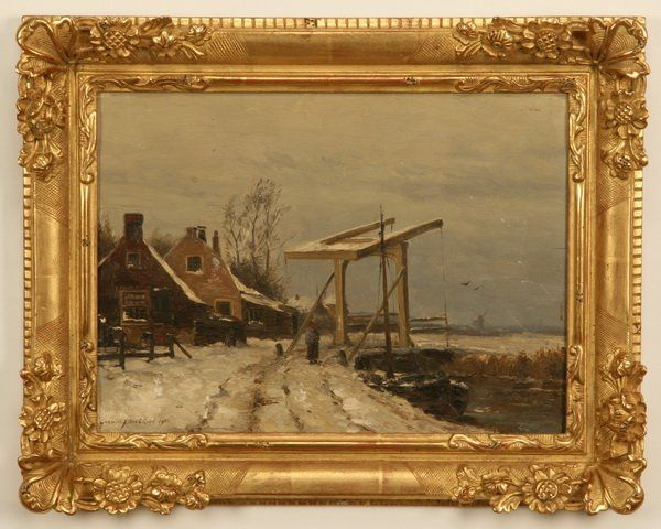 141: Early 20th c. oil on canvas, signed Kackkack