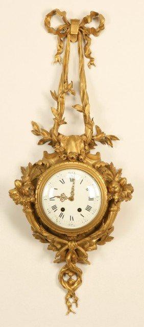 19th C. French Dore' Bronze Clock