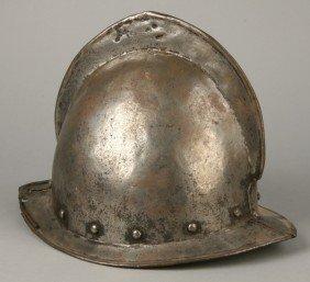 10: 17th c. Marion-Cabasset iron helmet