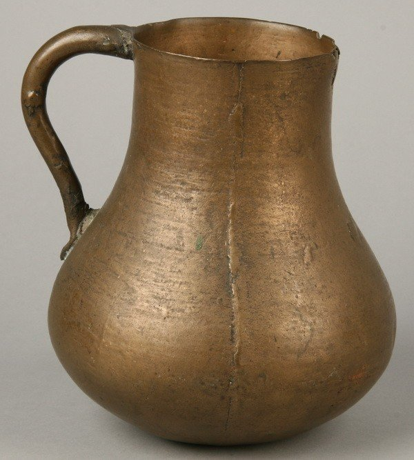 11: 18th c. English bronze mug