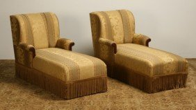 17: Pair of English chaises
