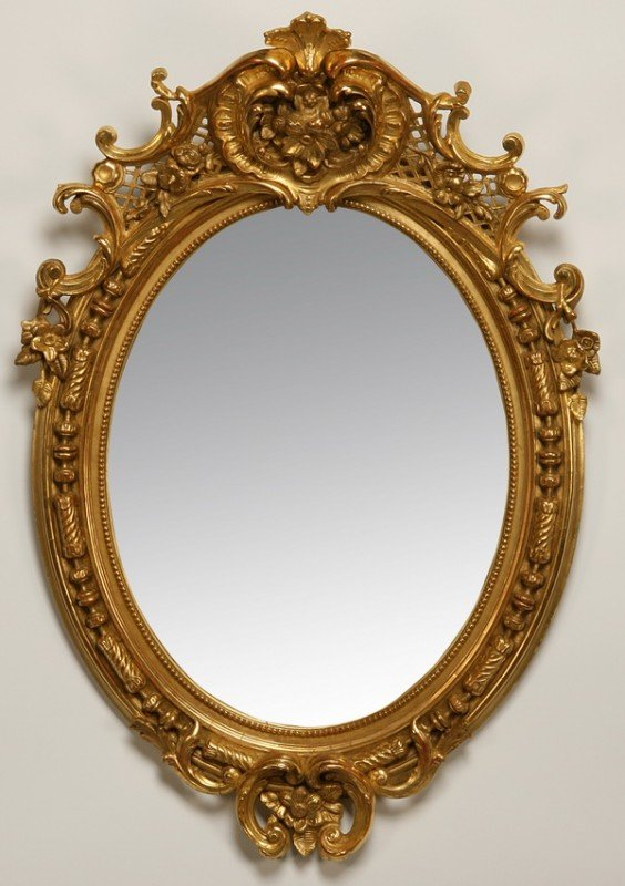 20: 19th c. giltwood mirror