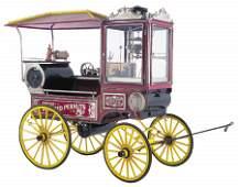 80: 19th c Chicago Peanut Roaster Wagon Steam Engine