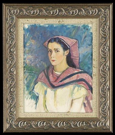 2: Louis Kronberg 19th c Oil Portrait Mexican Lady