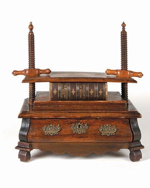 3: 18th century Dutch Oak Twin Screw Book Press