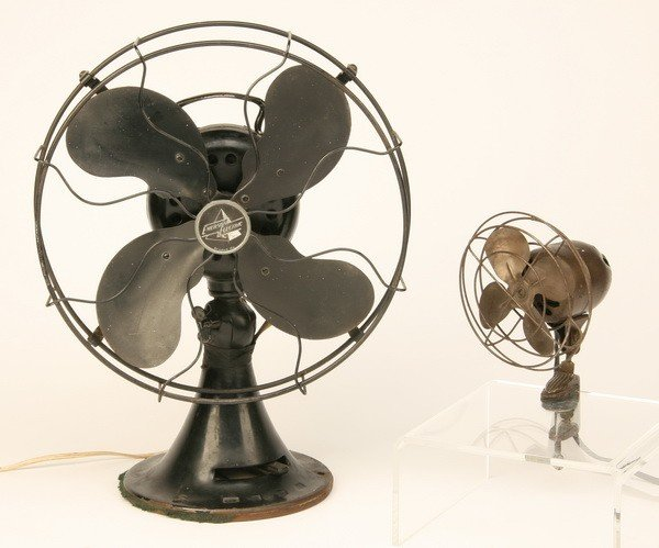 332: Two early Emerson electric fans