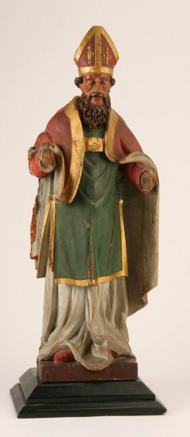 3: 19th c. carved and decorated wood figure