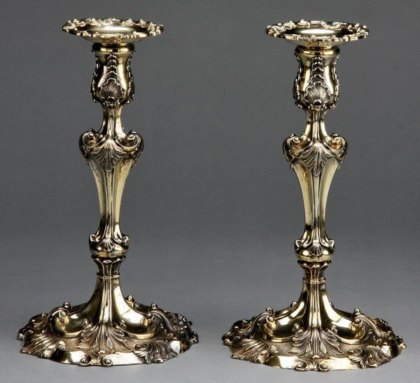 6: Pair of Tiffany & Co. sterling candleholders