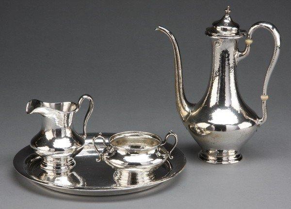 11: Gorham sterling silver 4-pc coffee service
