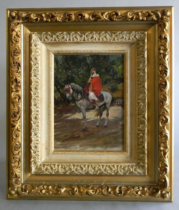 14: 19th c. oil on canvas, signed F.A. Bridgman