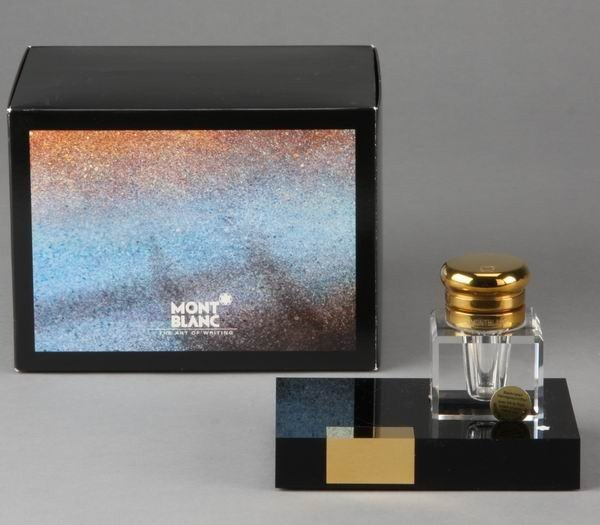 18: Mont Blanc crystal inkwell (new)