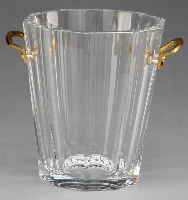 22: Baccarat crystal champagne bucket