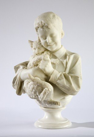 23: 19th c. Italian carved marble sculpture