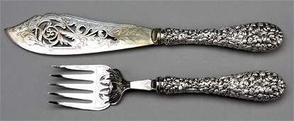 197: Early 20th c. sterling serving set, marked